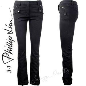 3.1 Phillip Lim black straight leg jeans 4
